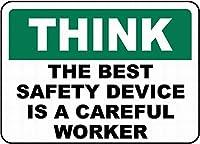 最高の安全性は注意深い壁の金属のポスターですレトロなプラークの警告ブリキのサインヴィンテージの鉄の絵画の装飾オフィスの寝室のリビングルームクラブのための面白いハンギングクラフト