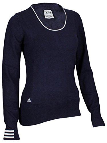 adidas Taylormade Womens Performance 3 Stripe Sweater (XS (0), Quartz/White)