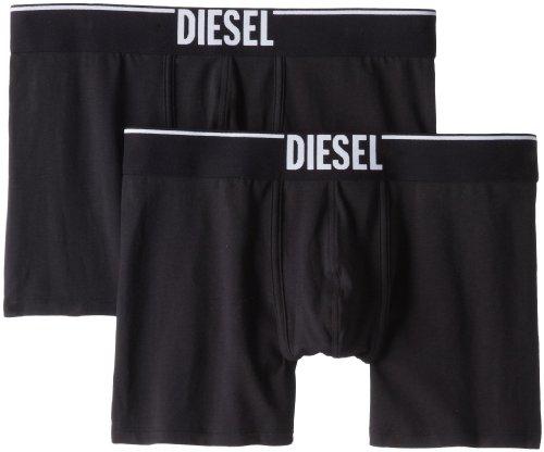 Diesel Herren Boxershort Sebastian - Cotton Stretch 2er Pack, Größe:S;Farbe:black