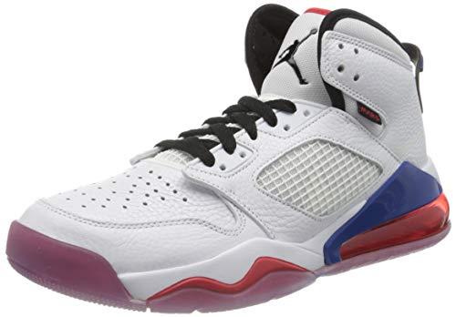 Nike Herren Jordan Mars 270 Basketballschuh, White/Black-University red-Rush Blue, 45 EU