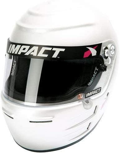Impact Racing 12915309 Helmet - 5% OFF Vapor SNELL15 safety White SM LS
