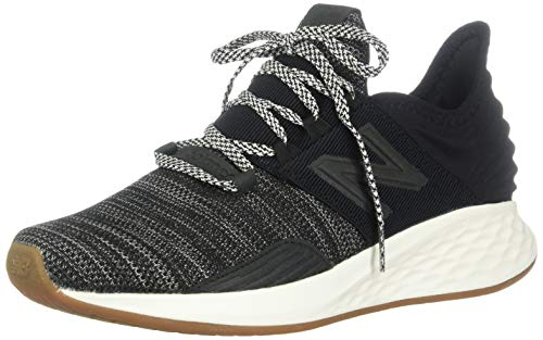 New Balance Women's Roav V1 Fresh Foam Running Shoe, Black/SEA Salt, 8 N US