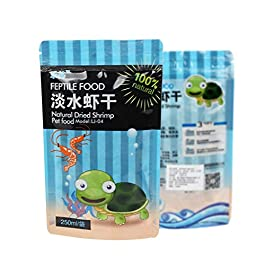 Ncbvixsw New 250ml/bag Shrimp Dry Feed Water Turtle Brazilian Tortoise Turtles Food Calcium Supplement Fish Tank Freshwater Dried Shrimps