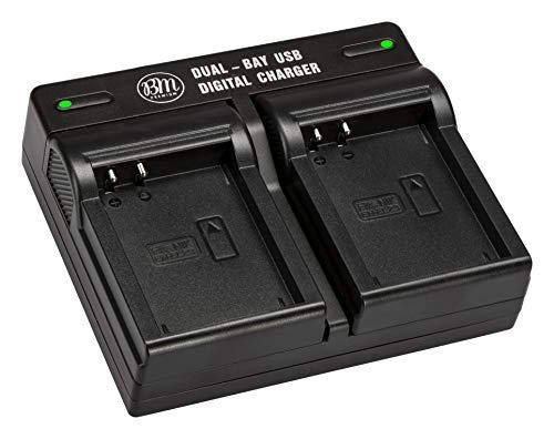 BM Premium EN-EL23 USB Dual Battery Charger for Nikon Coolpix B700, P900, P600, P610, S810c Digital Camera (MH-67P Replacement)