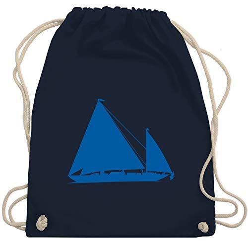 Shirtracer Schiffe - Segelboot - Unisize - Navy Blau - die verbotene insel - WM110 - Turnbeutel und Stoffbeutel aus Baumwolle