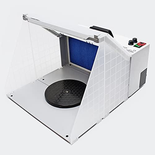 Equipo de aspiración para aerografía 4m³/min Filtro de neblina Iluminación de intensidad regulable