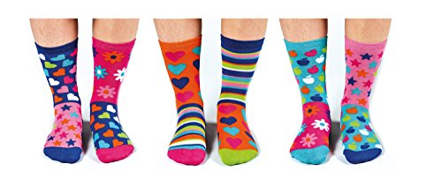 socks Verrückte Oddsocks Funky Dory für Mädchen im 6er Set
