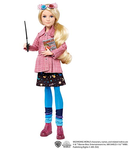HARRY POTTER Luna Lovegood Collectible Doll (~10-inch) Wearing Tweed Jacket, Skirt and Tights, with Quibbler and Spectrespecs, Gift for 6 Year Olds and Up