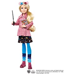 Fans and collectors can relive their favorite movie moments with Harry Potter dolls! This collectible Luna Lovegood doll looks just like her onscreen character in a pink tweed coat, out-of-this-world skirt, tights and sneakers Includes a pair of Spec...