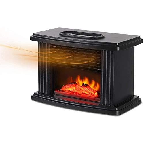 Chimenea Eléctrica Calefactor Tipo Estufa de Pie con Efecto de Leña Ardiendo,...