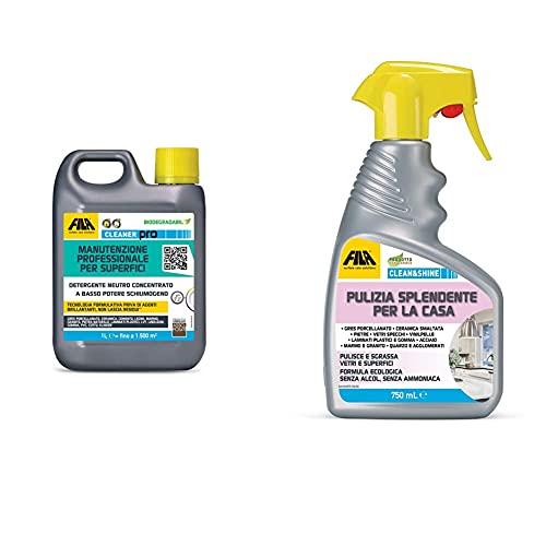 FILA Surface Care Solutions Fila Cleaner, Detergente Per Pavimenti, La Confezione Puo' Variare &...