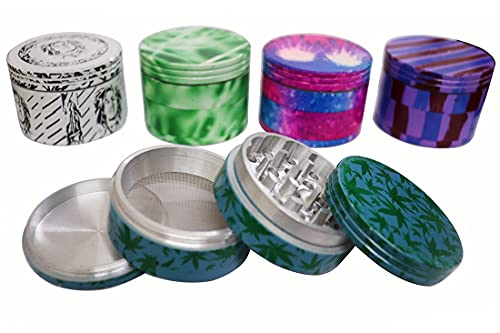 Green Apple Inc 42 MM Assorted Limited Edition Weed Crusher Round Grinder (Pack of 1)