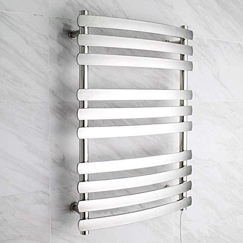 N/Z Inicio Equipo Toallero eléctrico Antideslizante Curvo 10-Bar El Estante Calefactor de Toallas de Acero Inoxidable 304 es un Hotel Peluquería Cocina Baño cableado
