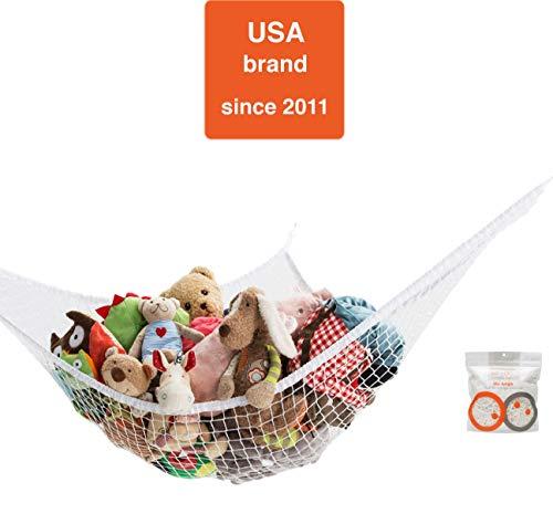 Mayapple Baby Stuffed Animal Toy Hammock, Premium Plush Toy Hanging Organizer, SKY JUNGLE, Jumbo Large Storage Mesh Pet Net