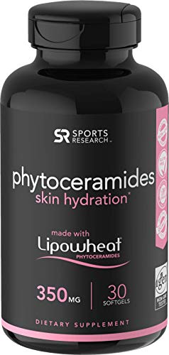 Phytoceramides 350mg Made with Clinically Proven Lipowheat | Plant Derived and GMO Free with No Fillers or Synthetic Vitamins - 30 Liquid softgels