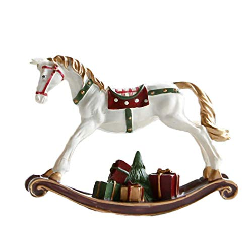JYKFJ Rocking Horse Collectible Statue Miniature Animal Figurines Ornaments Model Fairy Garden Decorations Animal Party Favors Gifts