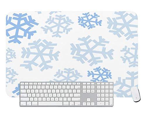 Alfombrilla de ratón para juegos de fondo blanco copos de nieve para escritorio y portátil 1 paquete de 600 x 400 x 3 mm