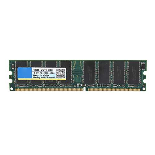 Socobeta DDR-Speicher Desktop-Speicher Desktop-RAM 333 MHz Langlebig Praktisch 1G DDR-Speicher Hohe Geschwindigkeit für Computer für Desktop für PC