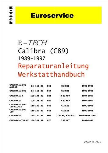 E-Tech REPARATURANLEITUNG/WERKSTATTHANDBUCH (CD) OPEL CALIBRA