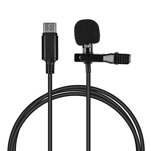 Mini Lapela Lapela Clip-on Microfone Condensador Microfone com Tipo-C Plug para Android smartphone para samsung s8 p10 / p20 / p30 8