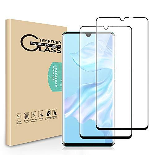 Seinal Panzerglas Schutzfolie für Huawei P30 Pro [2 Stück] 3D Full Screen Displayschutzfolie Panzerglasfolie Tempered Glass 3D Touch Hartglas Screen Protector Glass Handy Folie für P30 Pro(Schwarz)