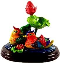 Betterdecor Feng Shui Mandarin Ducks Swimming in a Lotus Pond for Love