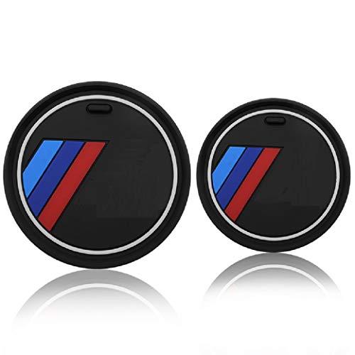 2 PCS Car Interior Anti Slip Cup Holder Mats Coaster Compatible for BMW 1 2...
