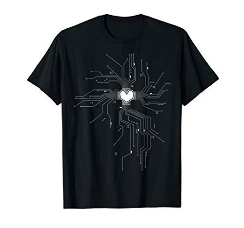 Das Herz eines Tech Nerds Prozessor Computer Kern CPU T-Shirt