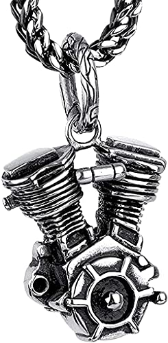 Ketting Heren ketting Dames hanger ketting Herenmode ketting Kettingen Europese en Amerikanen Roestvrij stalen ketting Herenmode Staal Titanium Motorfiets Motor Motor hanger ketting Jongens