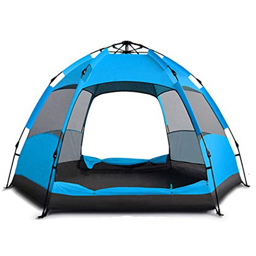 RYDZCLH Pop-up Kiosk, Automatic Portable Rainproof and Sun-proof Pop-up Tent, Easy to Use, Suitable for Travel, Camping, Other Outdoor Activities,Blue,5_8 people