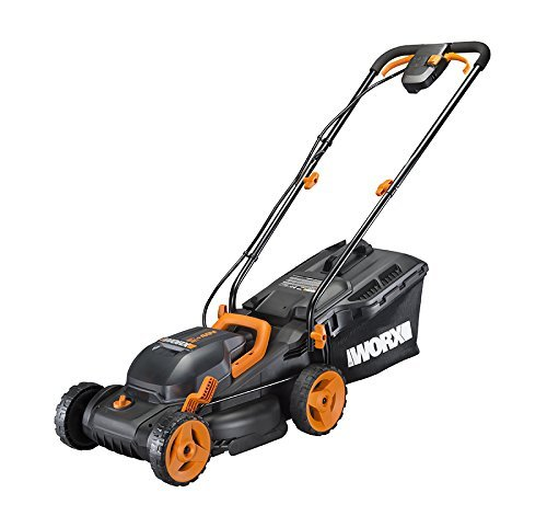 """Worx WG779 2x20V (4.0AH) Cordless 14"""" Lawn Mower with Mulching Capabilities and Intellicut, Dual Charger, 2 Batteries (Renewed)"""