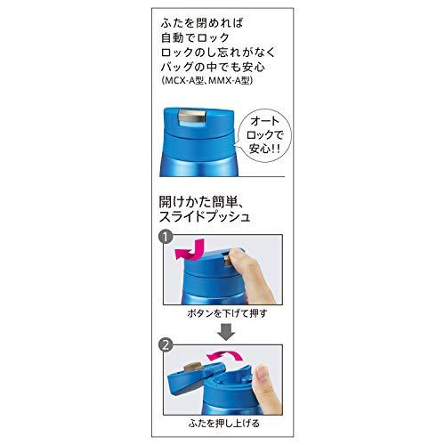 『タイガー 水筒 500ml サハラ マグ ステンレスボトル ワンタッチ 軽量 スカイブルー MCX-A501AK』の3枚目の画像
