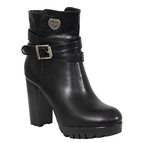 Milwaukee Performance Women's Black Double Strap Side Zipper Boots