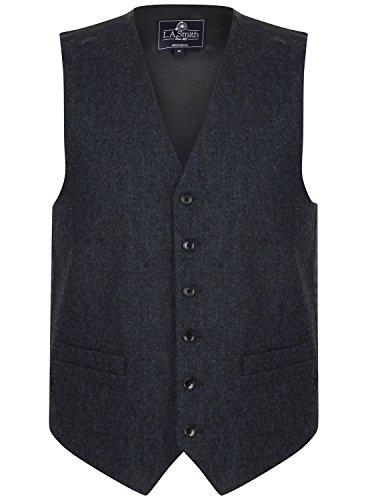 Lloyd Attree & Smith Gilet sans Manche en Laine mélangée Tweed Bleu - Homme (L)