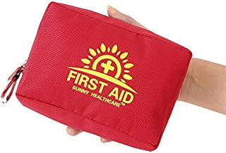 Mini First Aid Kit - Small and Light 100 Pieces First Aid Bag - Packed with Medical Supplies for Emergency, Survival, Hiking, Backpacking, Camping, Travel, Car & Cycling
