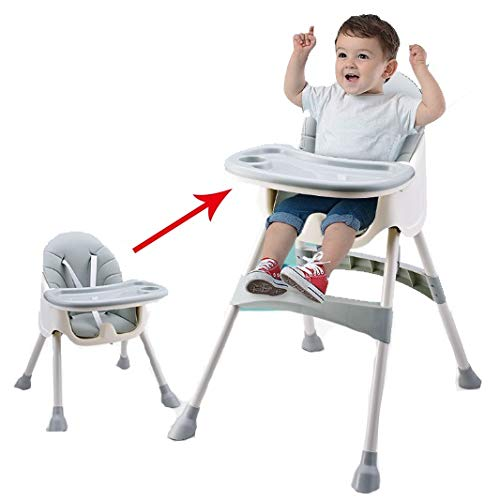 Fall Trona para Bebé, Tronas Plegables para bebés, tronas con Bandeja extraíble,...