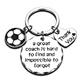 Coach Keychain A Great Coach is Hard to Find and Impossible to Forget Sports Gifts for Men Woman Boys Football Soccer Thank You Appreciation Keychain Birthday Match Cheer Soccer Team Key Ring