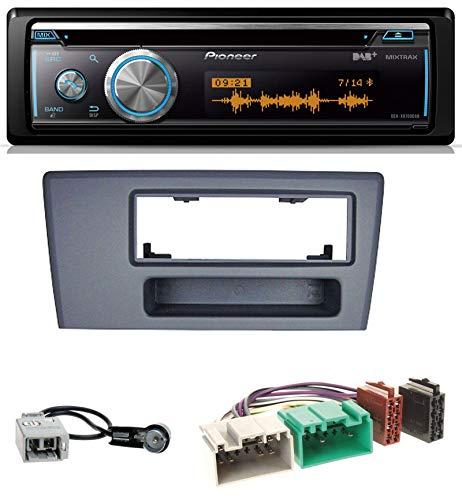 caraudio24 Pioneer DEH-X8700DAB MP3 DAB USB CD Bluetooth Autoradio für Volvo S60 S70 C70 V70 00-03 dunkelgrau