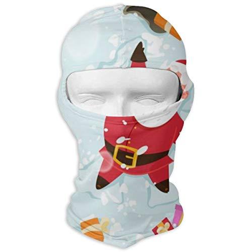 Sitear gelukkig kerstman en rendier maken een sneeuw engel volledige gezicht masker kap nek warm voor mannen en vrouwen outdoor sport winddicht zonnebrandcrème gepersonaliseerd