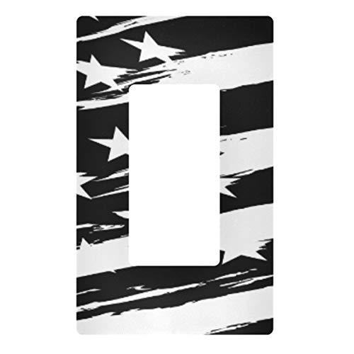 Placa decorativa de pared con interruptor de luz, con la bandera americana, cubierta de la placa de interruptor de 3 bandas para el dormitorio, cocina, decoración del hogar
