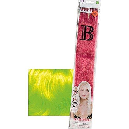 Balmain - Mechones de pelo auténtico, 45 cm, alisado, fantasía, 10 unidades