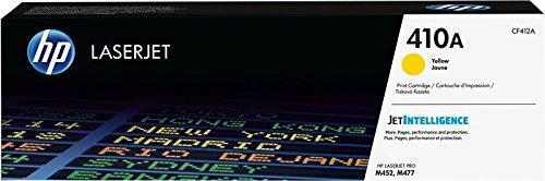 HP 410A CF412A Cartuccia Toner Originale per Stampanti Laserjet Pro della Serie M300, M450 e M470, Giallo