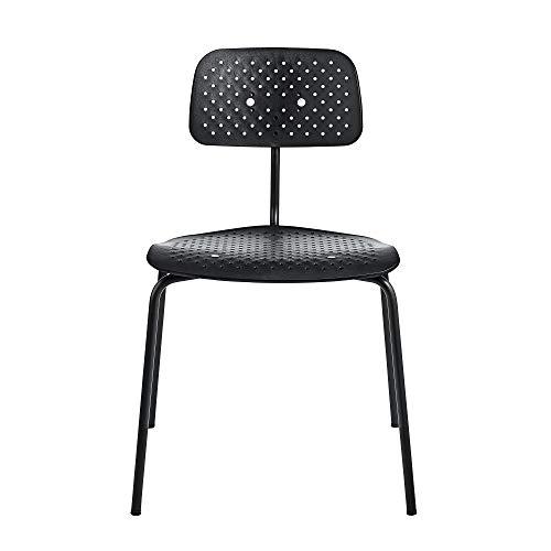 Engelbrechts Kevi 2060 Air Stuhl, schwarz Kunststoff HxBxT 79x53x51cm Gestell Metall schwarz