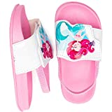 Toddler Boys Girls Slide Sandals Slip-On Footbed Breathable Water Shoes Beach/Pool (Hot Pink/Fish,8-9 Toddler)