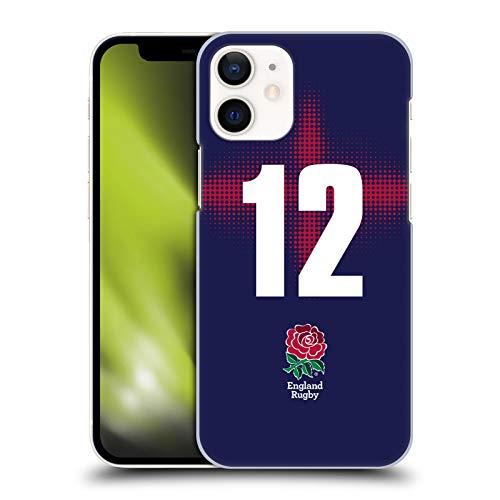 Head Case Designs Official England Rugby Union Position 12 2016/17 Alternate Kit Carcasa rígida Compatible con Apple iPhone 12 Mini