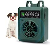 FcrenHuang Anti Barking Device, Bark Control Device with 4 Adjustable Ultrasonic Volume Levels, Automatic Ultrasonic Dog Bark Deterrent for Small Medium Large Dog (Green)
