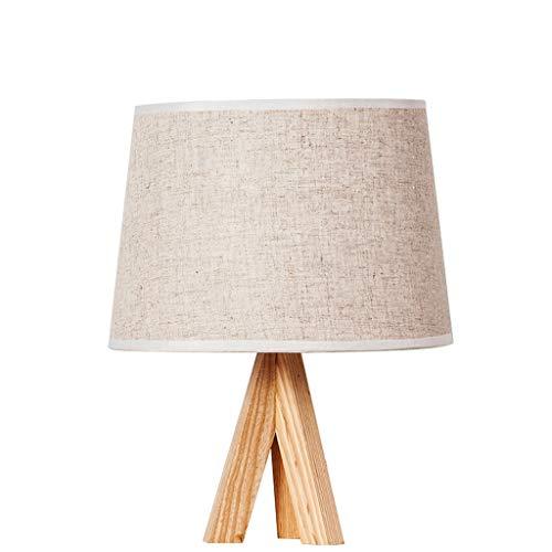 Lámpara de mesa Nordic dormitorio de la lámpara minimalista Mesa de madera maciza creativo Protección lámpara de mesa de noche de atenuación de la lámpara moderna de ojos Lámpara decorativa