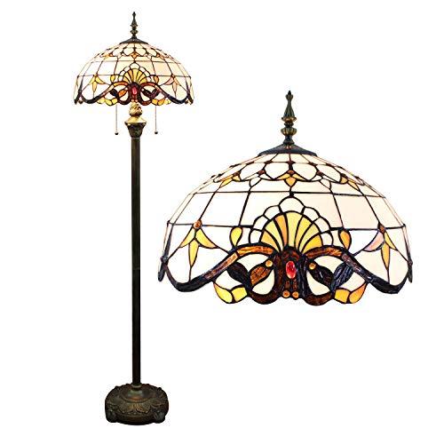 Gweat 16-inch Européenne Baroque Lampadaire Salon Lampe (Couleur : Le Jaune)