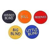 FLAMEER 5 Unids Texas Botón de Distribuidor Dealer Chips Accesorios de Póker de Casino Juego de Cartas