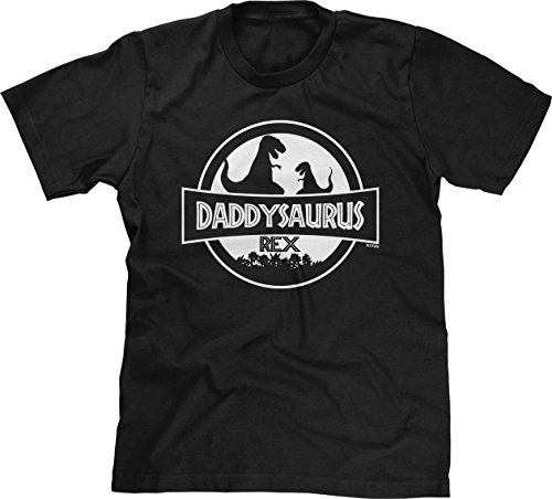 Daddysaurus Rex Mens T-Shirt, XL, Black